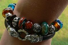 """Love this bracelet from Irish Heyer. Real mix of colours but the end result feels really """"Troll"""" to me"""