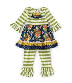 Cute Headband Fall Winter Outfit Set Clothes Toddler Little Girls Ruffle Tie Dye Tunic Dress Top Leggings Pants