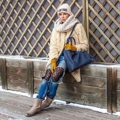 nice Стильный шарф-снуд (50 фото) — Как и с чем носить?