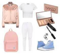 """school outfit"" by mariagomisp on Polyvore featuring Converse, Yves Saint Laurent, Herschel, Urban Decay and Bobbi Brown Cosmetics"