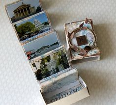 love, life and crafts Rudlis: Matchbox with book art - shows how made