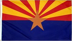 Arizona US State Flag - 3 foot by 5 foot Polyester by HOF. $4.84. Light-Fastness - Protects against UV Rays.. Prevents migration and bleeding of the dyes.. Made in USA. Double-stitched fly ends. Strong canvas header with brass grommet. Arizona State Sun Devils NCAA Football Flag. lightweight with Vibrant Color. Finished with strong white header and solid brass grommets.. Save 92% Off!