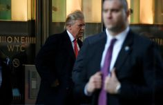 U.S. President-elect Donald Trump exits One World Trade Center following a meeting in Manhattan, New York City, U.S., January 6, 2017.  REUTERS/Brendan McDermid