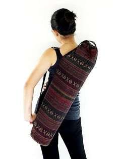 Handmade Yoga Mat Bag Yoga Bag Sports Bags Tote #bagsandpurses @EtsyMktgTool http://etsy.me/2yhCVlT