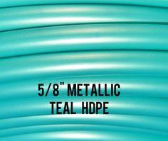 Metallic Teal 5/8 HDPE Dance & Exercise Hula Hoop by DanceHoops