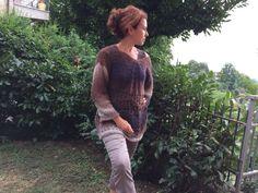 Istruzioni uncinetto, pattern, schema, donna, maxi, xxl, morbido, comodo, trendy, elegante  Ho creato questo maglione con l'idea di ottenere il capo