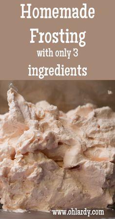 Homemade Frosting - Oh Lardy! whipping cream (coconut cream?), honey, vanilla