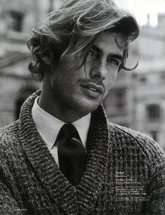 Messy Long Hair Style for Men