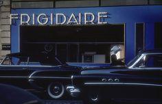 Modern Paris, 1954, Ernst Haas, France. Colour photography.