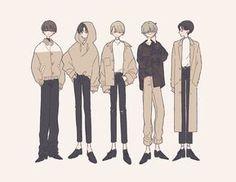 たなか on in 2020 Cute Cartoon Drawings, Cartoon Art, Anime Girl Dress, Boy Illustration, Art Illustrations, Cute Art Styles, Drawing Clothes, Art Reference Poses, Anime Outfits