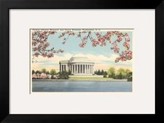 Jefferson Memorial, Tidal Basin Art Print at Art.com