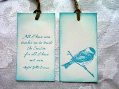 I just love these tags! Great ideas for book marks!