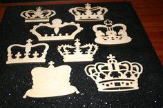 5 Laser Cut Wood Crowns