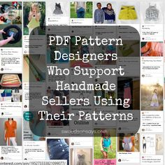 PDF Pattern Designers List - Designers who encourage handmade sellers to use their patterns for craft shows and Etsy shops. Sewing Patterns Free, Free Sewing, Craft Patterns, Indie, Handmade Shop, Handmade Items, Sewing Techniques, Sewing Hacks, Sewing Tips
