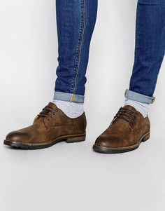 b5e9719bbb6 Image 1 of River Island Derby Shoes in Dark Brown River Island