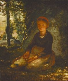 Jean Francois Millet shepherdess seated in the shade 1872