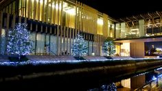 Winter illuminations at Nagasaki Prefectural Art Museum - Nagasaki, Japan
