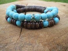 BOHEMIAN Stackable Bracelets Boho Coconut by BohemianChicbead