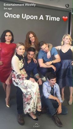 OUAT cast. I love how Jen is sitting in Colin's lap❤️