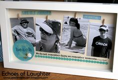 Make a shadow box for Mother's Day....great gift idea!