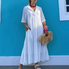 CASUAL DRESSES – vudevy Spring Clothes, Spring Outfits, Casual Dresses, Shirt Dress, Shirts, Collection, Fashion, Casual Gowns, Moda