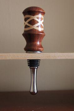 Knottybits Woodturning - Celtic Knot Wine Stopper