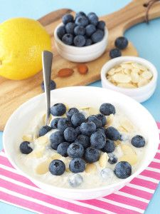 Blueberries and lemon Greek yogurt add a burst of flavor to this easy, make-ahead breakfast for one. Nobody needs an excuse to love blueberries. I mean, they were superfoods before superfoods were cool. Heck, blueberries were superfoods before 'superfoods' was a word. Plus, they're blue! Blueberries have saved many Fourth of July desserts from looking …