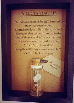 Scottish, wedding gift, a lucky haggis, lucky charm. A perfect gift from Scotland. Option to have it personalised.
