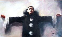 Piero. Sad clown. (2014) Oil painting by Igor Shulman   Artfinder