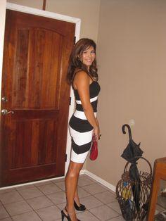 My bebe dress for my,shhh, 20 year high school reunion!
