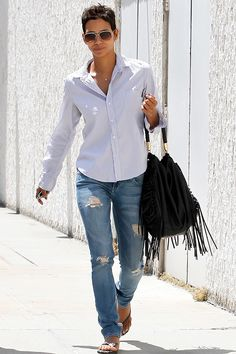 street style halle berry | Halle Berry on the street in LA - celebrity fashion