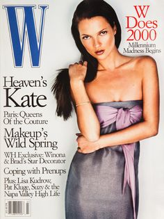 Kate Moss on the cover of W Magazine March 1999