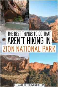 Zion National Park is the most popular national park in Utah. It has some of the best hikes in Utah but this will tell you what to do in Zion that isn't hiking. Zion National Park | Zion National Park Utah | Zion Utah | Zion National Park Utah Hiking | Utah Travel | Utah vacation | Utah national parks road trip | Utah things to do | Utah National Parks | Utah hiking #USA #Utah #roadtrip #nationalpark Chobe National Park, Capitol Reef National Park, Us National Parks, Bryce National Park, Nationalparks Usa, Zion Utah, Utah Vacation, Vacation Ideas, St George Utah