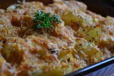 Ropogós tepsis burgonya Meat Recipes, Cake Recipes, Lasagna, Macaroni And Cheese, Chicken, Vegetables, Ethnic Recipes, Food, Mac And Cheese