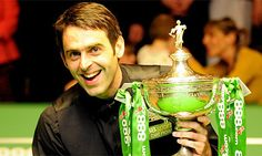Ronnie O'Sullivan, my favourite snooker player :) Awarded with the great honour of being the most talented snooker player in history. Three times world champion.