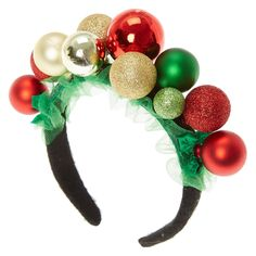 Serre-tête Noël fantaisie what to get for christmas fun Tacky Christmas, Green Christmas, Christmas Costumes, Kids Christmas, Christmas Stockings, Christmas Wreaths, Christmas Crafts, Christmas Decorations, Christmas Hair