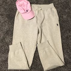 Ralph lauren polo sweatpant joggers NWT ralph lauren light gray polo sweats, have band on the bottom if each ankle, very thick to keep warm, open to reasonable offers, no trades Polo by Ralph Lauren Pants