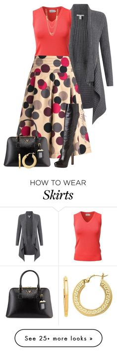 """MODCLOTH RETRO SKIRT"" by arjanadesign on Polyvore featuring Autumn Cashmere, Prada, Gorjana, BillyTheTree, modcloth and jjperfection"