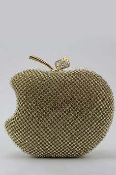 Cai Yue Golden Fruit Shaped Rhinestone Evening Bag | Clutches at DEZZAL Click on picture to purchase!