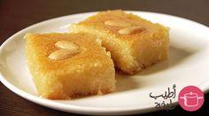 Coconut basbousa recipe - طريقة عمل بسبوسة بجوز الهند