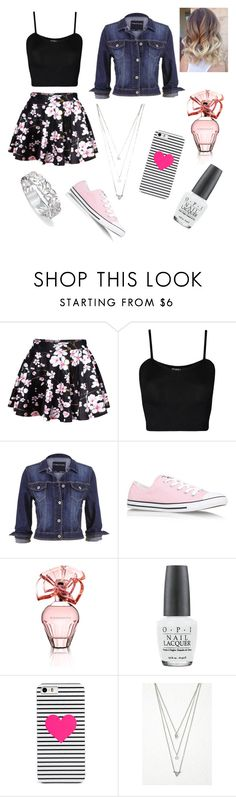 """""""Karoke Date with Aaron"""" by turnupformagcon ❤ liked on Polyvore featuring WearAll, maurices, Converse, BCBGMAXAZRIA, OPI, BaubleBar and Forever 21"""