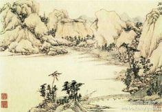【明 文徵明《石湖图》】纸本。故宫博物院藏。