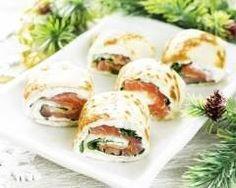 Galettes roulées au saumon (facile, rapide) - Une recette CuisineAZ