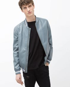 Image 2 of FAUX LEATHER BOMBER JACKET from Zara