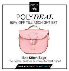 """""""PolyDeal: 50% Off All Brit-Stitch """"Half-Pint"""" Bags"""" by polyvore-editorial ❤ liked on Polyvore featuring Brit-Stitch"""