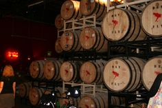 The barrel room at Dry Fly, the first distillery to open in the state of Washington after the prohibition. They use only Washington grown products! 10 Barrel, Barrels, Distillery, Washington State, Bourbon, Vancouver, Decor Ideas, Canning