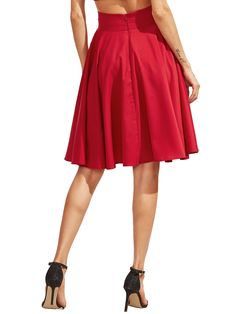Shop Burgundy High Waist Pleated Midi Skirt online. SheIn offers Burgundy High Waist Pleated Midi Skirt & more to fit your fashionable needs.