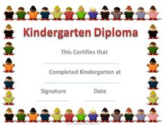 A Printable Kindergarten Diploma Free Downloads Available Here