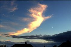 'Angel' shaped cloud spotted in Devon