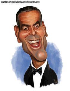 Caricature: George Clooney by Rocky J Sawyer  wittygraphy.com